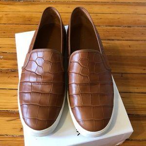 Vince Croc-Embossed Sneakers